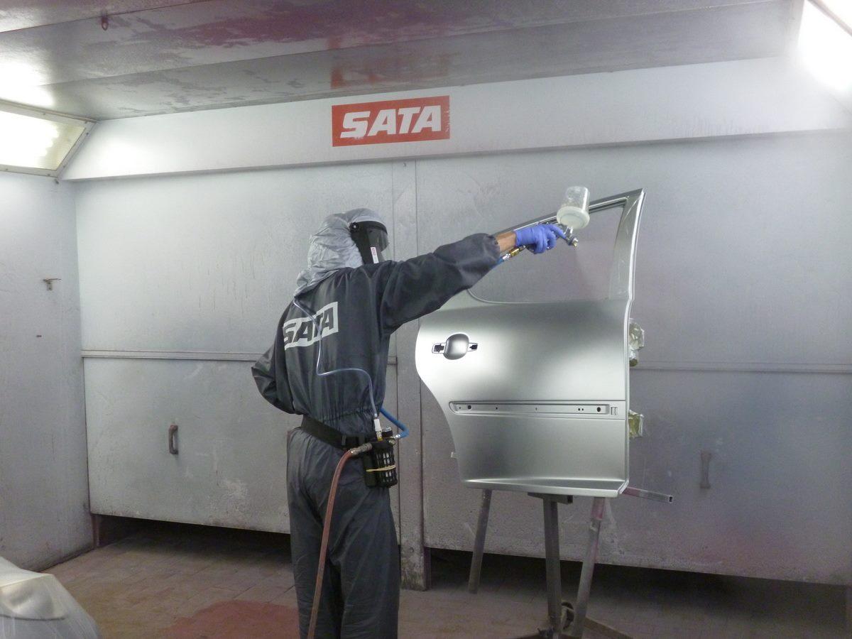 Spraying RHM Bodyshop